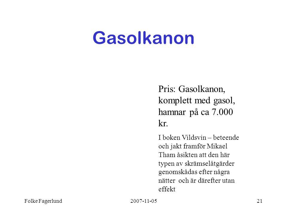 Gasolkanon Pris: Gasolkanon, komplett med gasol, hamnar på ca 7.000 kr.