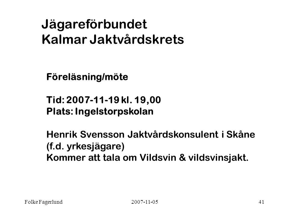 Jägareförbundet Kalmar Jaktvårdskrets