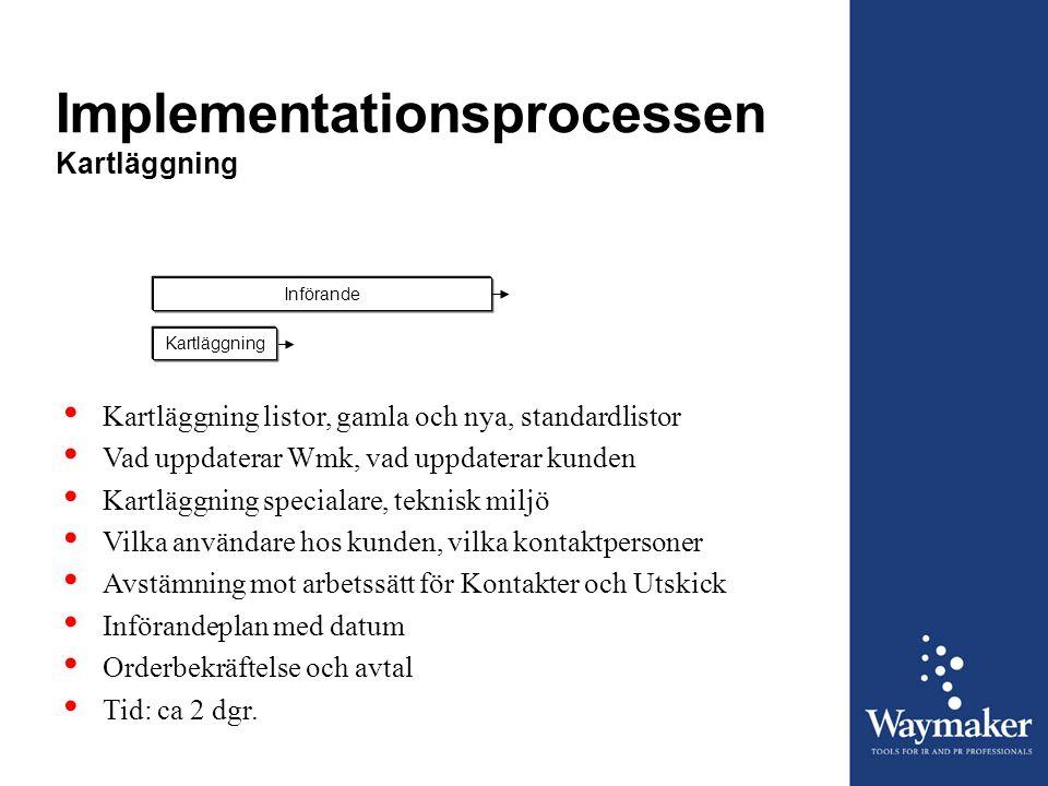Implementationsprocessen Kartläggning