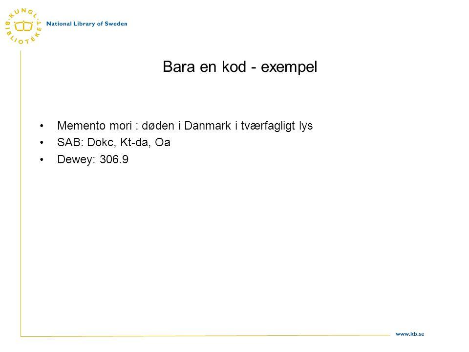 Bara en kod - exempel Memento mori : døden i Danmark i tværfagligt lys