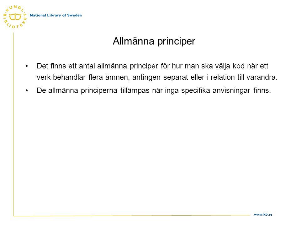 Allmänna principer