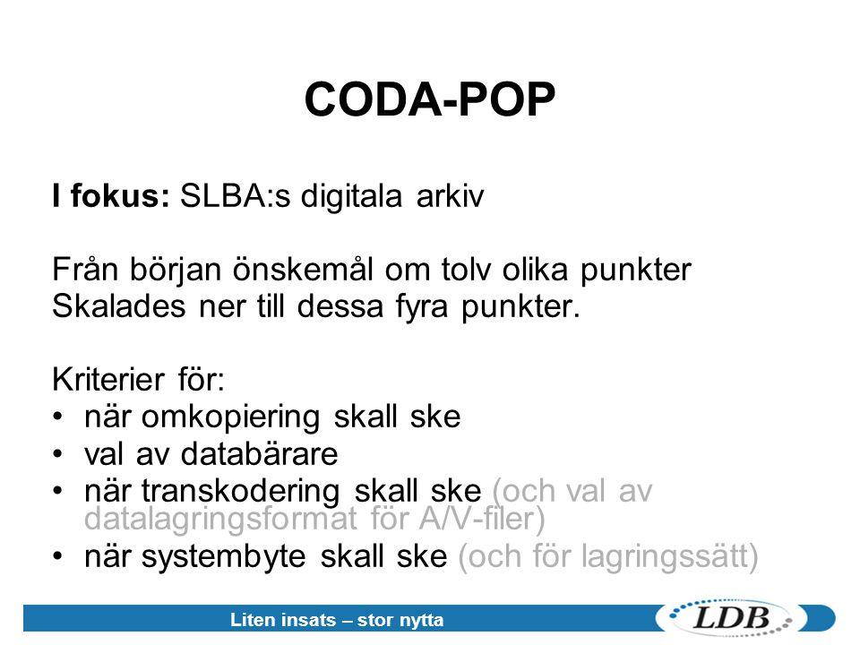 CODA-POP I fokus: SLBA:s digitala arkiv