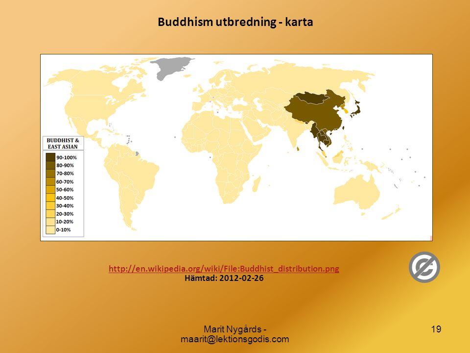 Buddhism utbredning - karta
