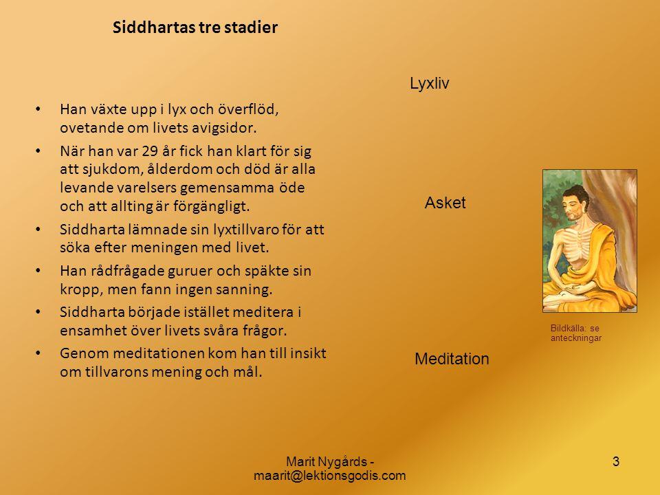 Siddhartas tre stadier