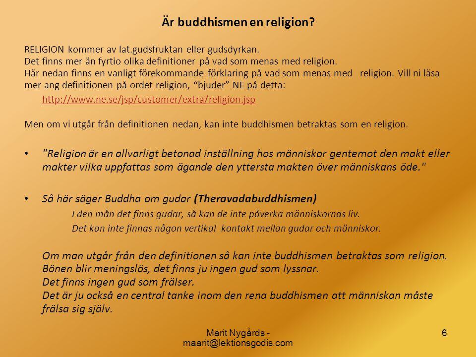 Är buddhismen en religion