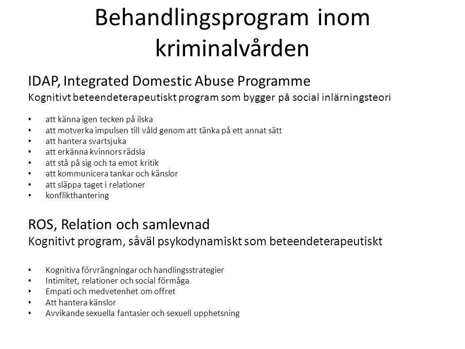 Behandlingsprogram inom kriminalvården