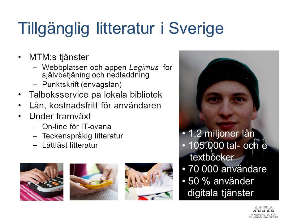 Tillgänglig litteratur i Sverige