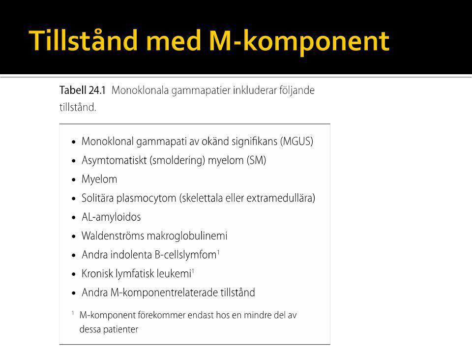 Tillstånd med M-komponent