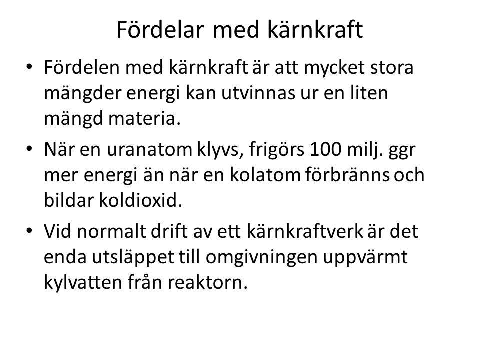 Fördelar med kärnkraft