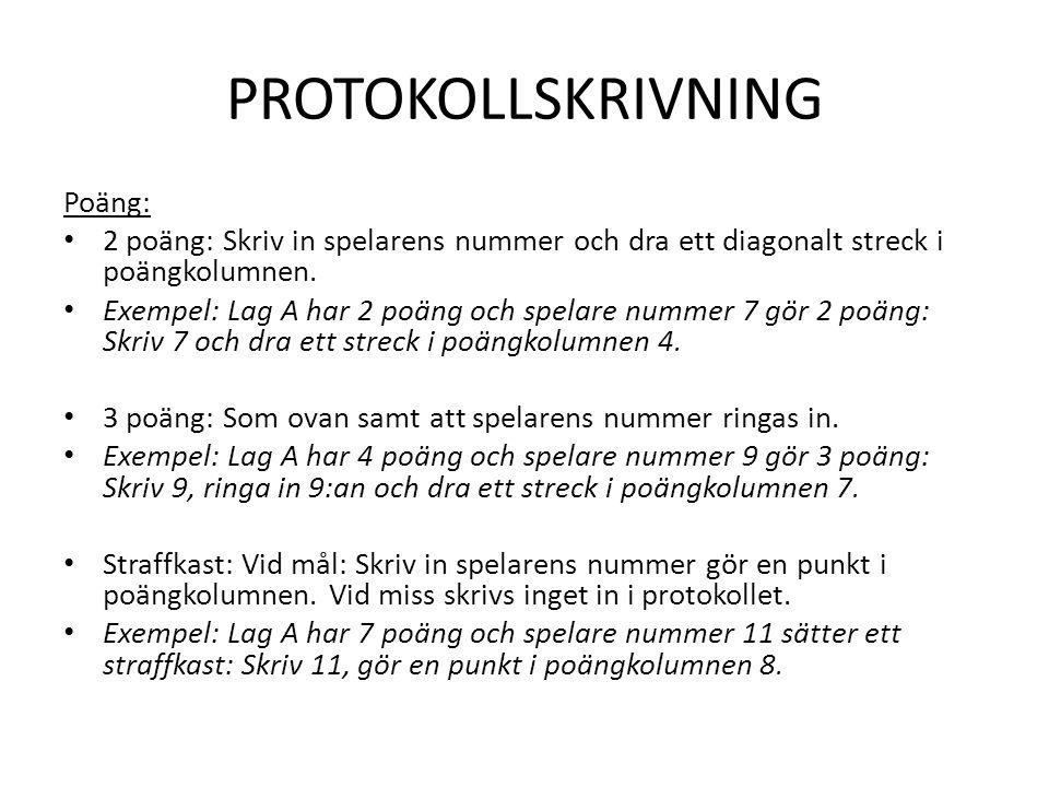 PROTOKOLLSKRIVNING Poäng: