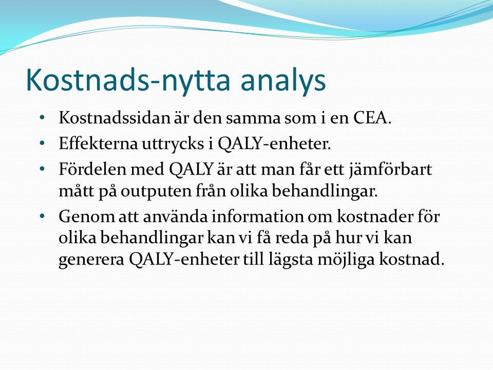 Kostnads-nytta analys