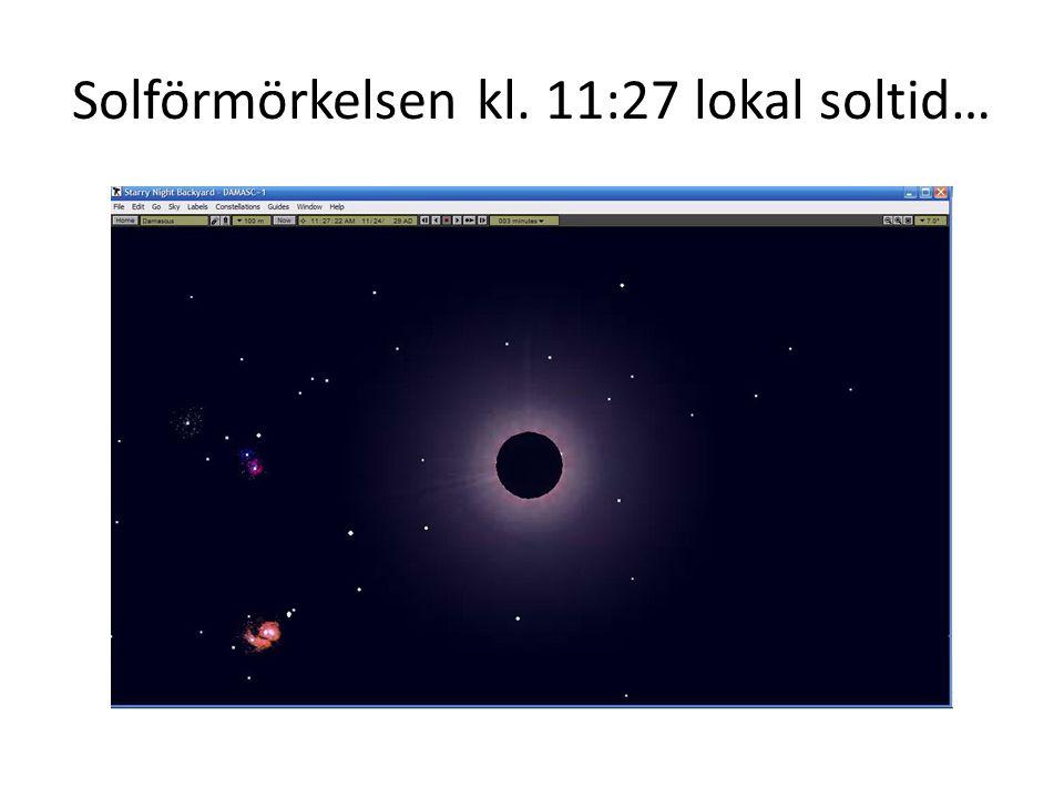 Solförmörkelsen kl. 11:27 lokal soltid…