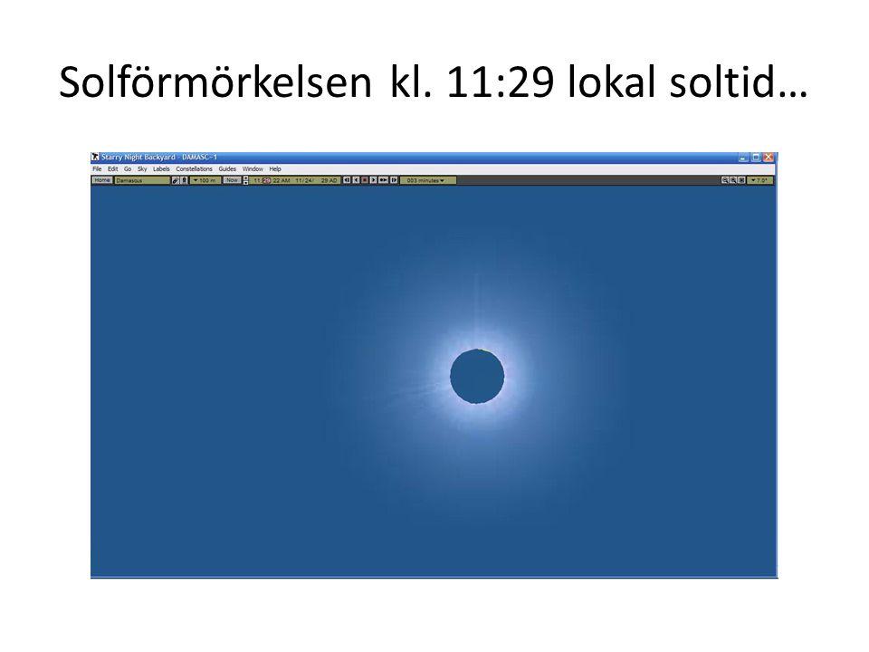Solförmörkelsen kl. 11:29 lokal soltid…