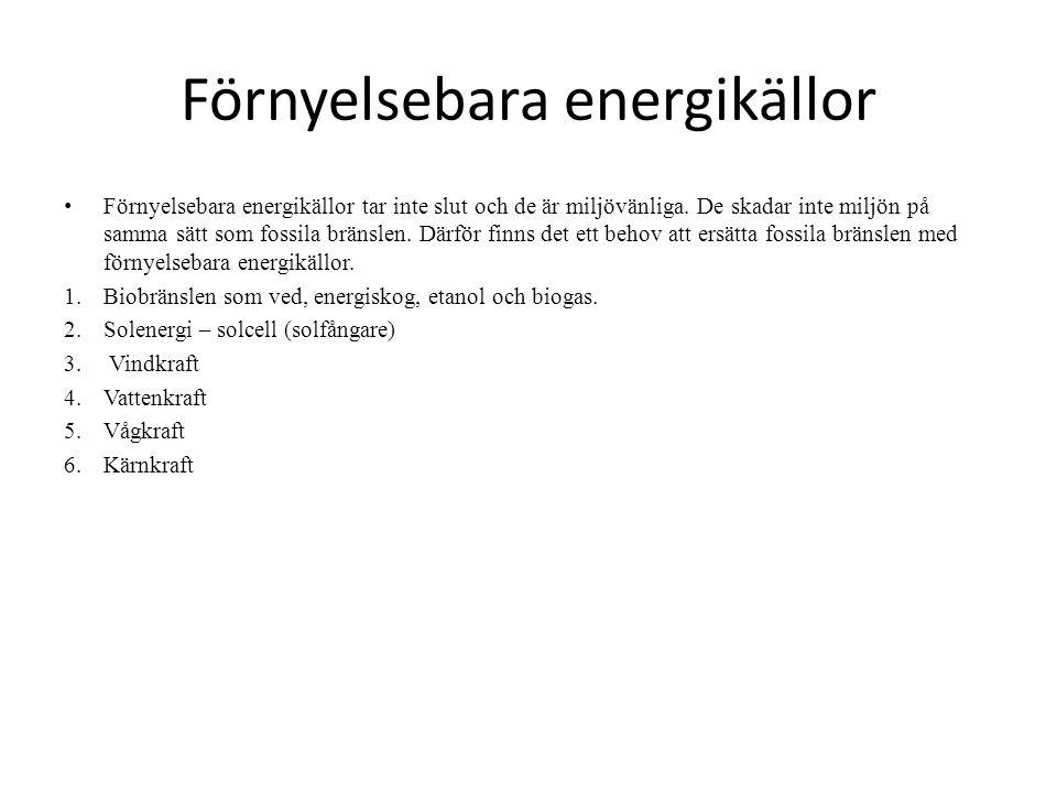 Förnyelsebara energikällor
