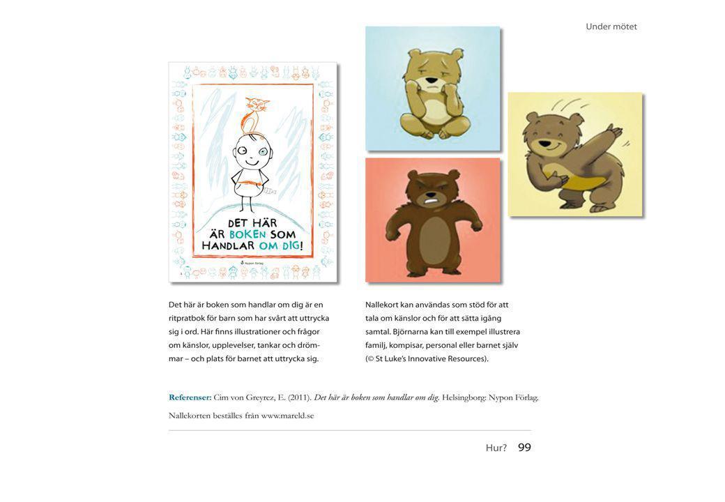 74 Två exempel på material som kan användas i samtal med barn och vuxna.