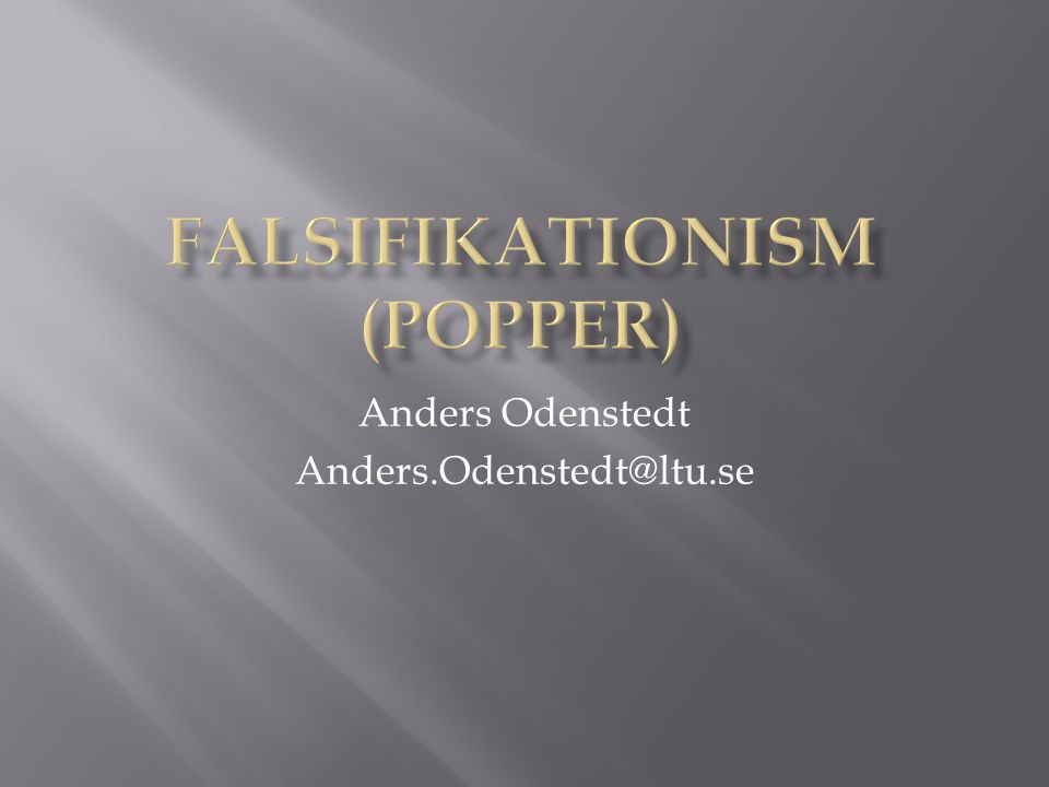 Falsifikationism (Popper)