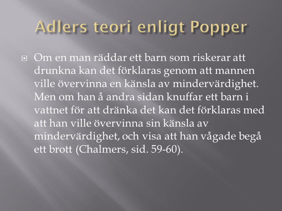 Adlers teori enligt Popper
