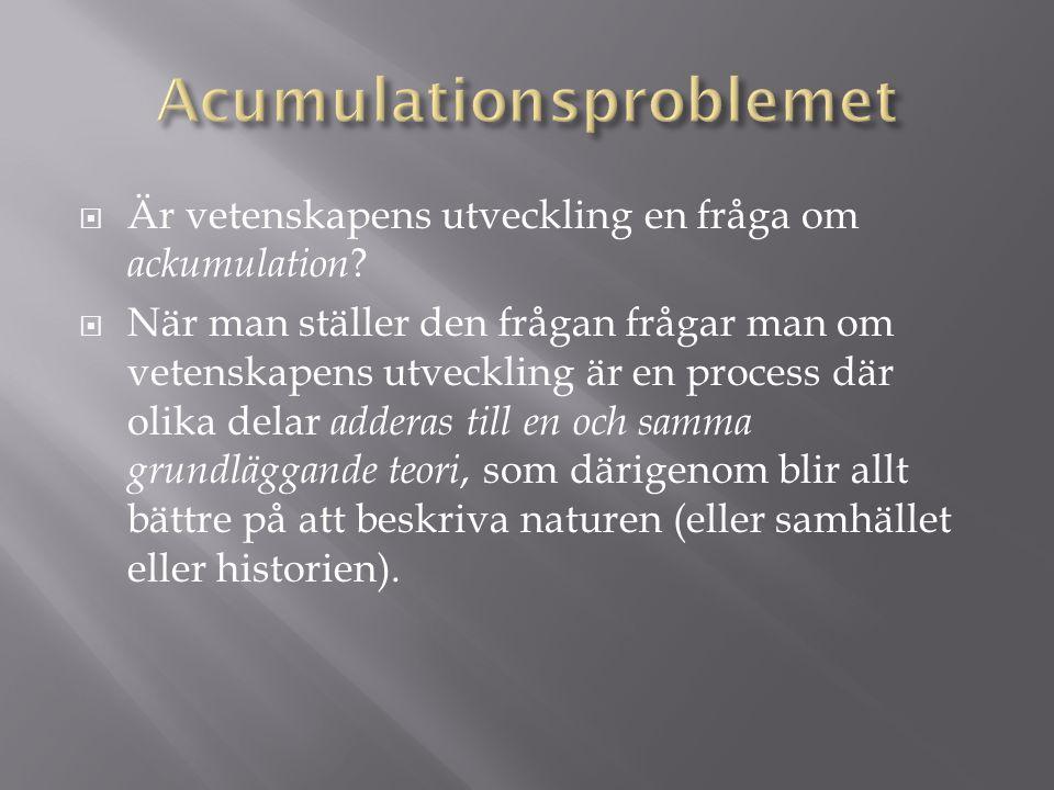 Acumulationsproblemet