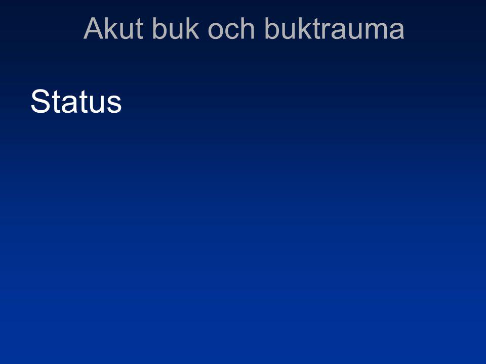 Akut buk och buktrauma Status 14