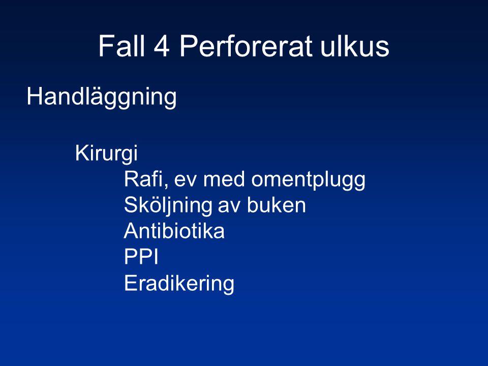Fall 4 Perforerat ulkus Handläggning Kirurgi Rafi, ev med omentplugg