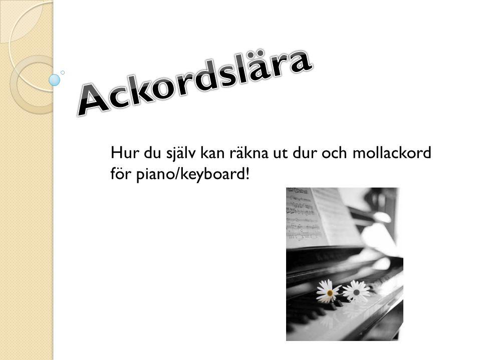 Hur du själv kan räkna ut dur och mollackord för piano/keyboard!