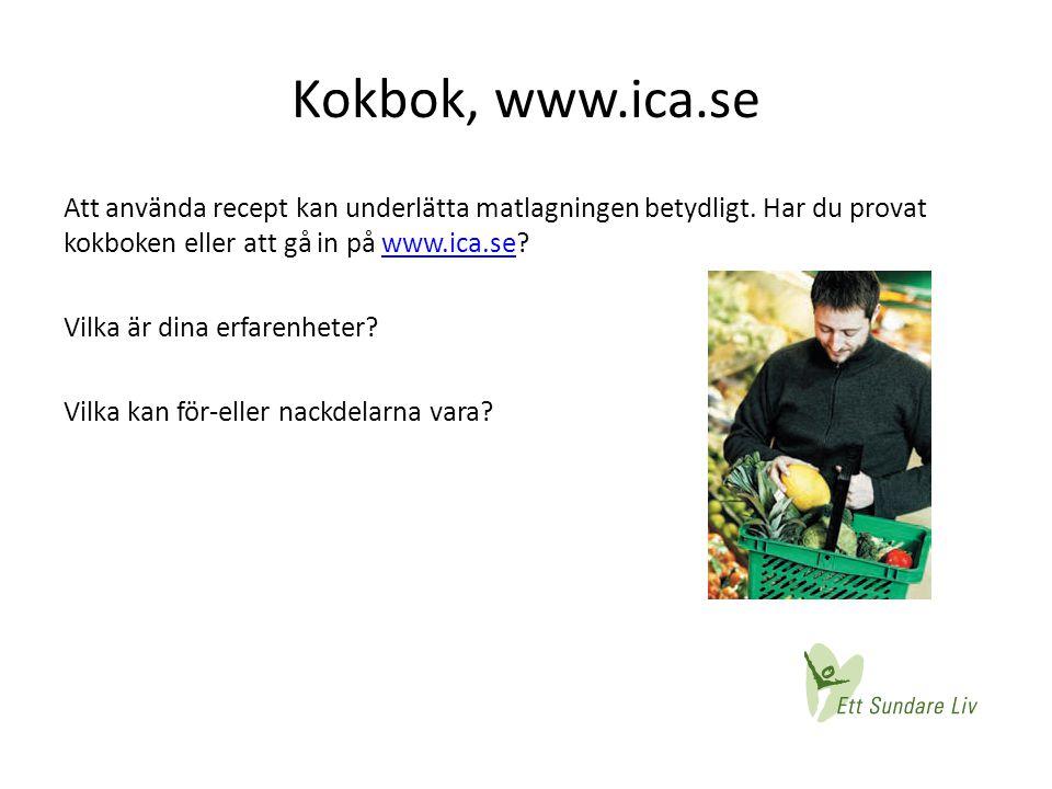 Kokbok, www.ica.se