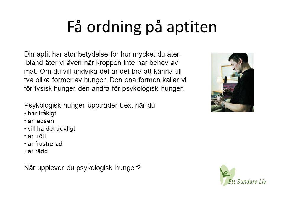 Få ordning på aptiten