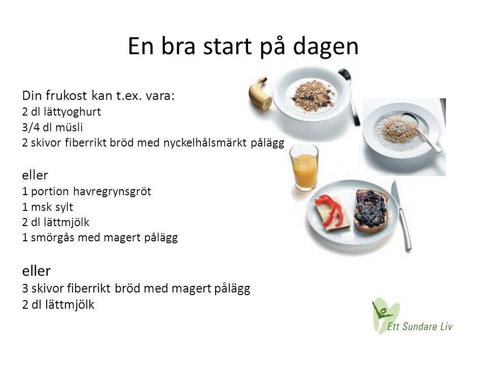 En bra start på dagen Din frukost kan t.ex. vara: eller