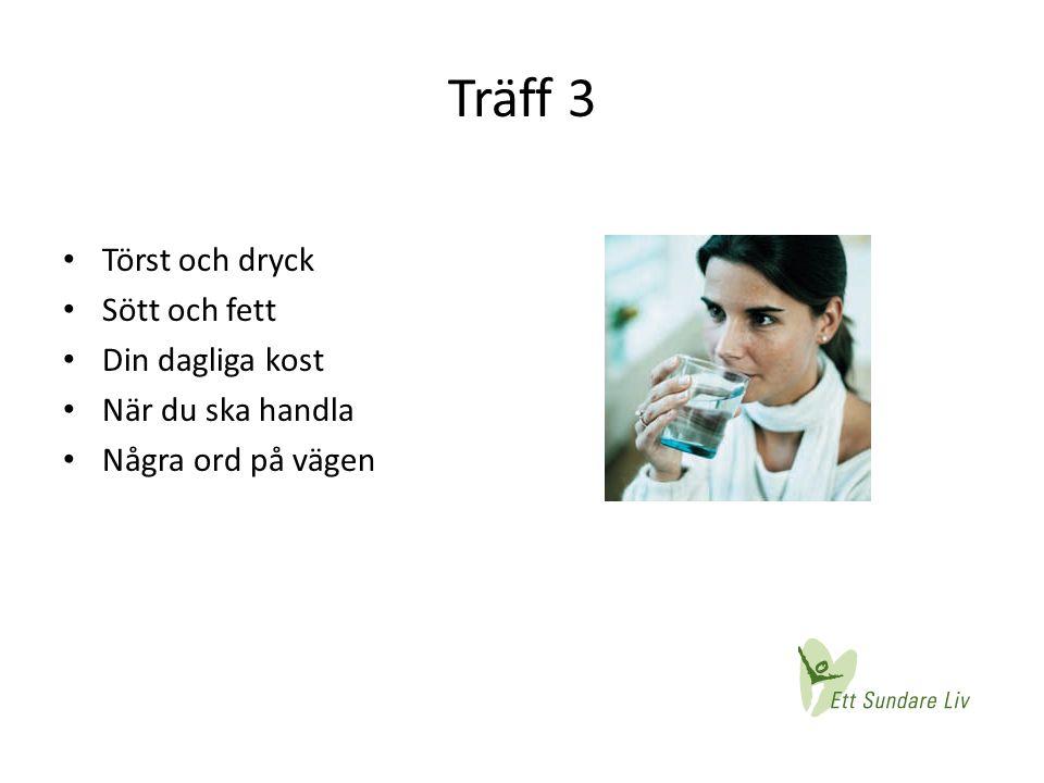Träff 3 Törst och dryck Sött och fett Din dagliga kost