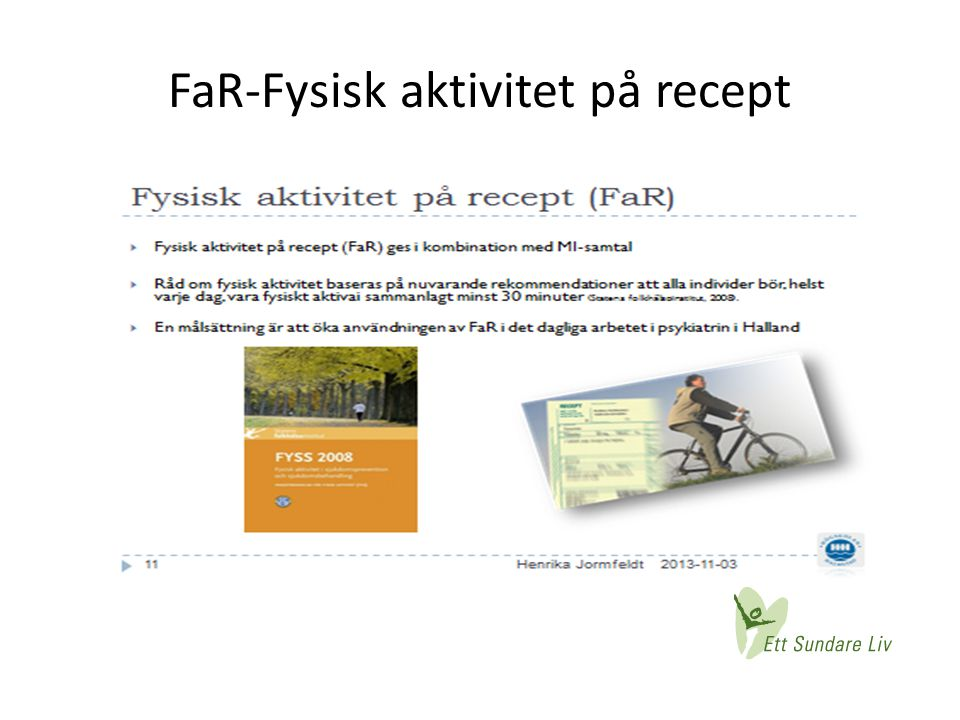 FaR-Fysisk aktivitet på recept