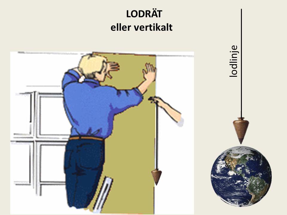 LODRÄT eller vertikalt