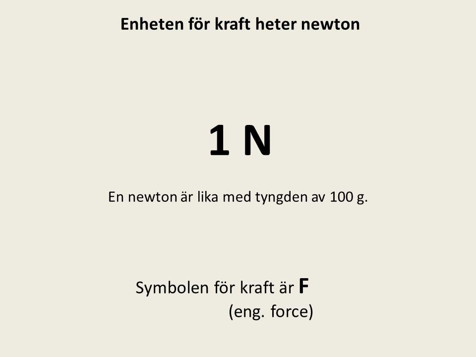 Enheten för kraft heter newton