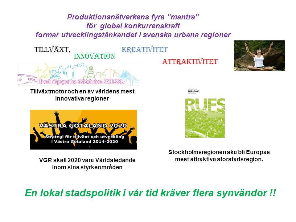 En lokal stadspolitik i vår tid kräver flera synvändor !!