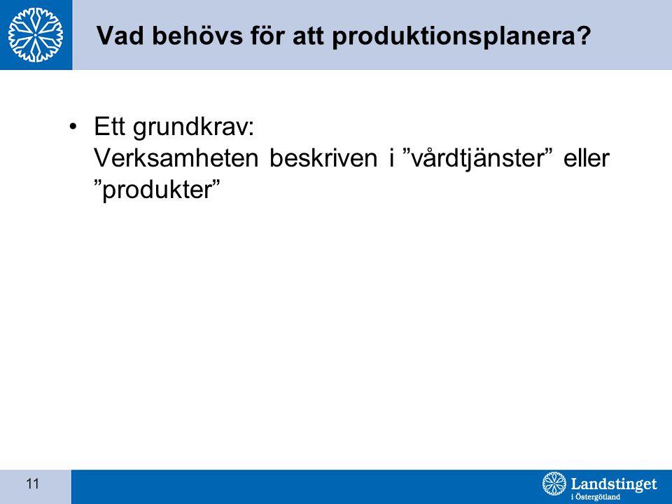 Vad behövs för att produktionsplanera