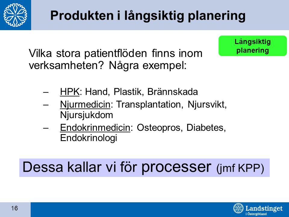 Dessa kallar vi för processer (jmf KPP)