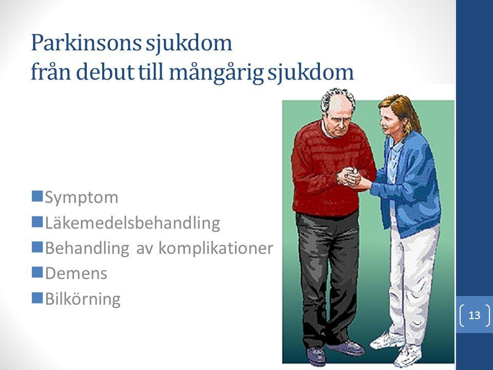 Parkinsons sjukdom från debut till mångårig sjukdom