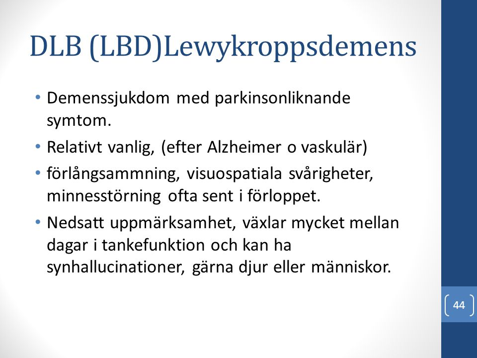 DLB (LBD)Lewykroppsdemens