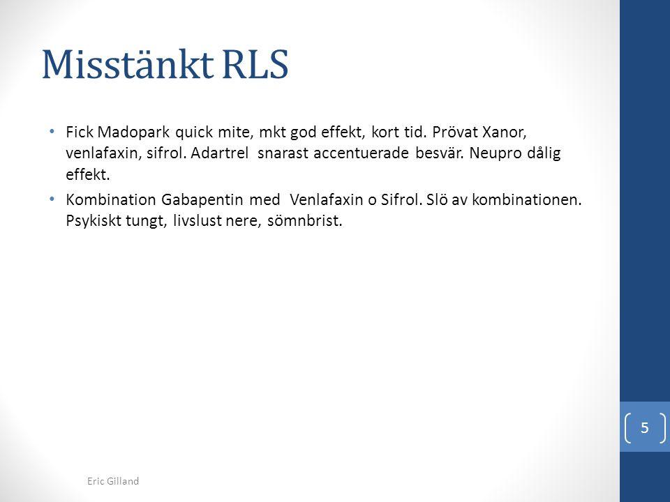 Misstänkt RLS