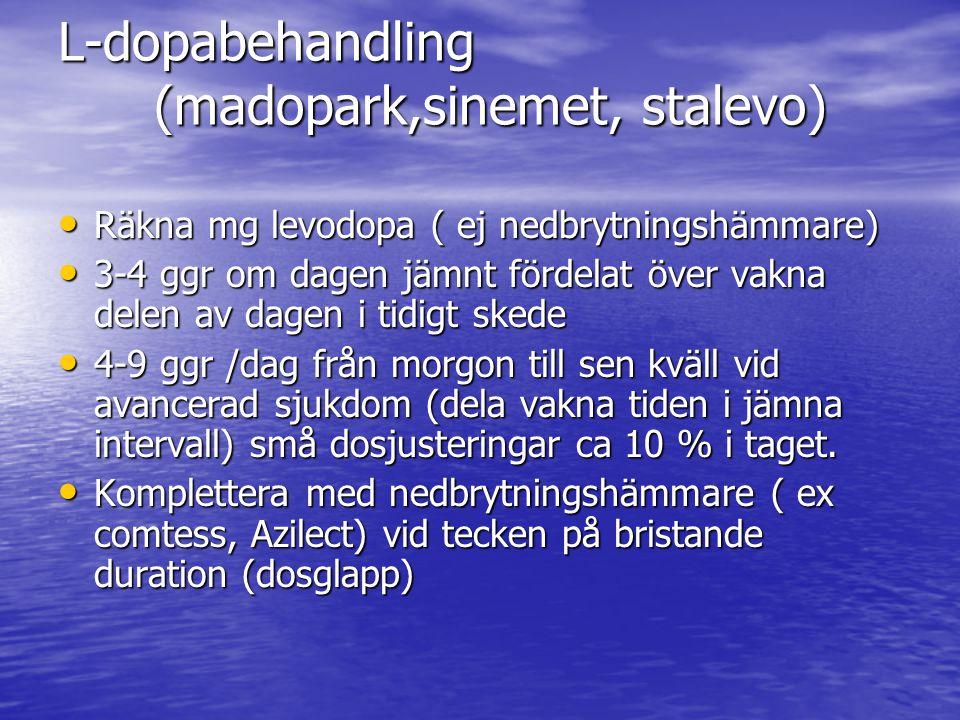 L-dopabehandling (madopark,sinemet, stalevo)