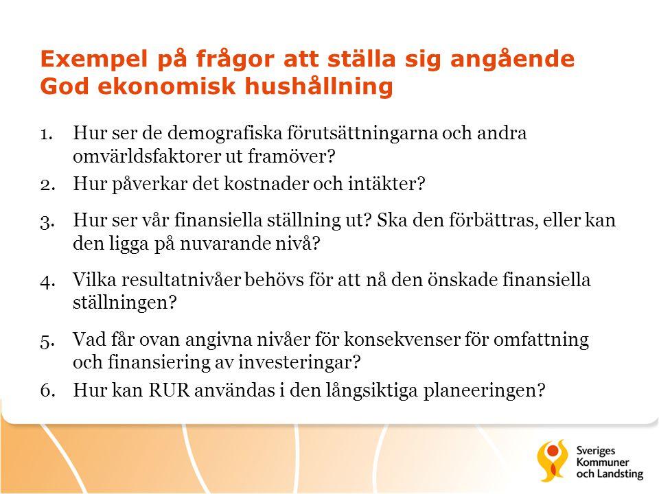 Exempel på frågor att ställa sig angående God ekonomisk hushållning