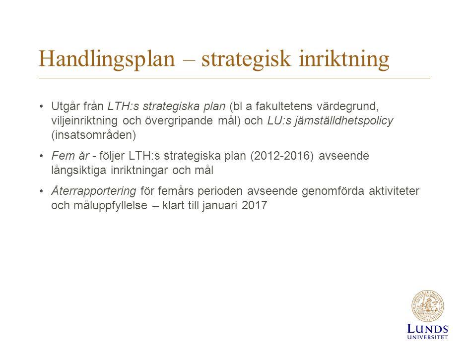 Handlingsplan – strategisk inriktning