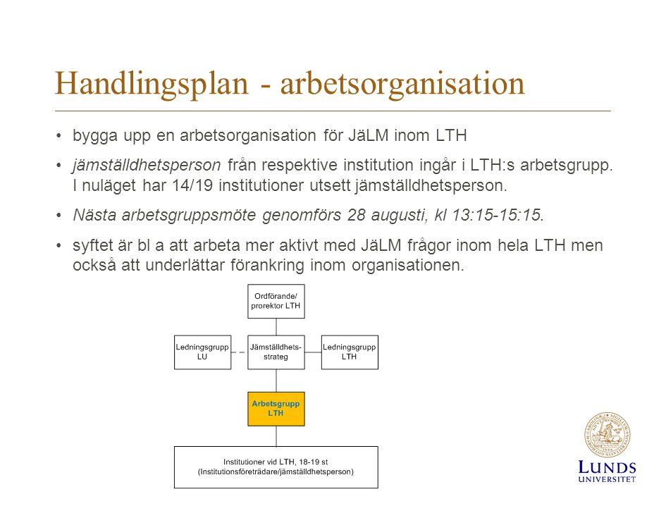 Handlingsplan - arbetsorganisation