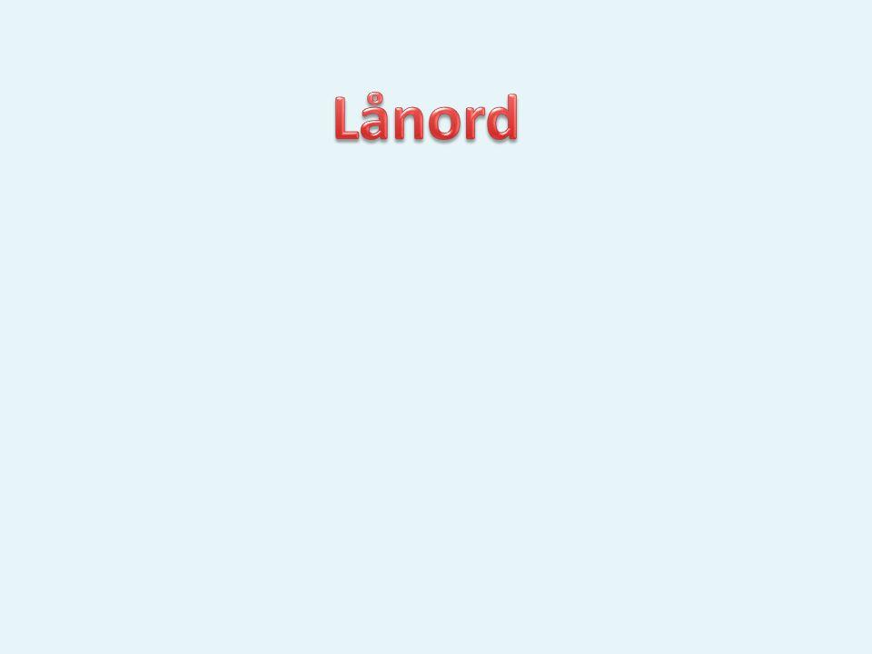 Lånord