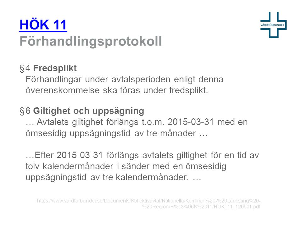 HÖK 11 Förhandlingsprotokoll