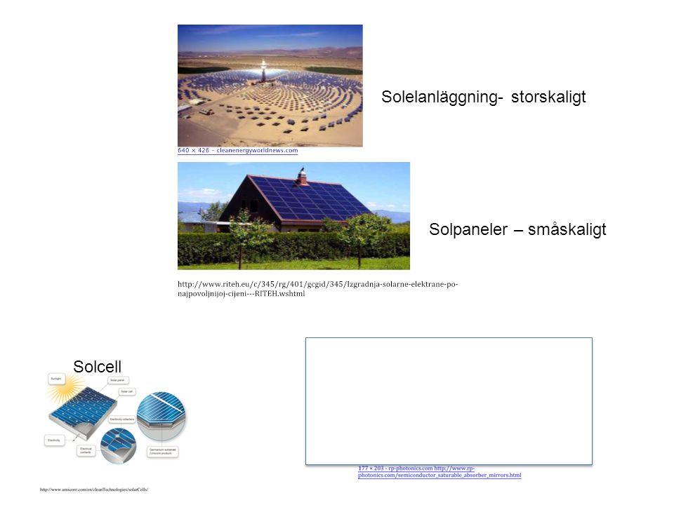 Solelanläggning- storskaligt