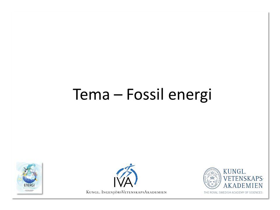 Tema – Fossil energi