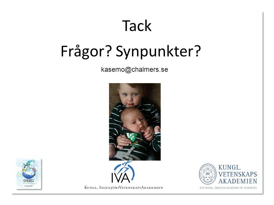 Tack Frågor Synpunkter kasemo@chalmers.se