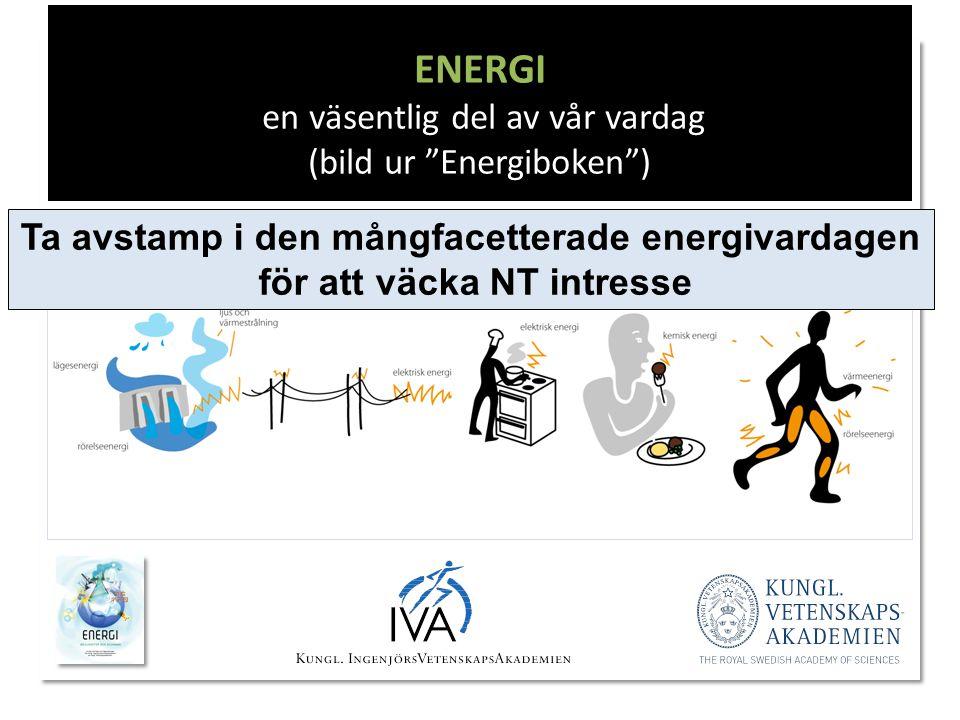 ENERGI en väsentlig del av vår vardag (bild ur Energiboken )