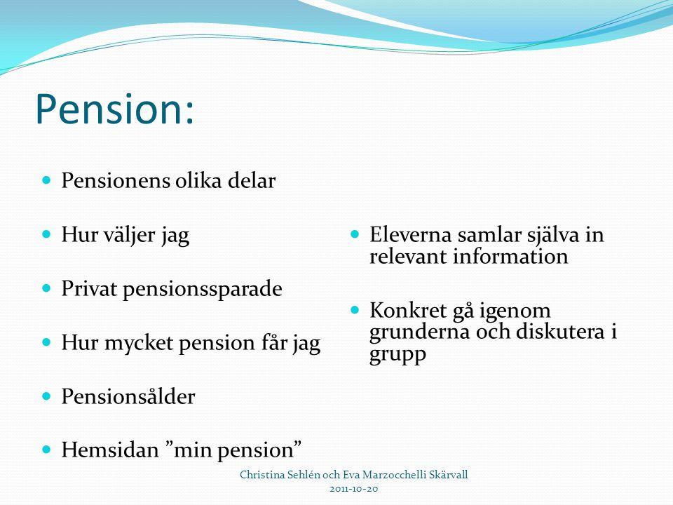 Christina Sehlén och Eva Marzocchelli Skärvall 2011-10-20