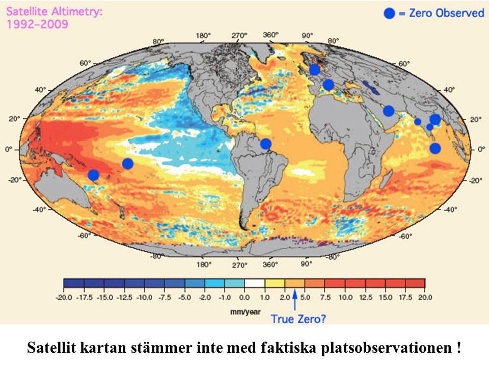 Satellit kartan stämmer inte med faktiska platsobservationen !